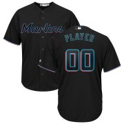 Wholesale Cheap Miami Marlins Majestic Alternate 2019 Cool Base Custom Jersey Black