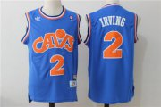 Wholesale Cheap Men's Cleveland Cavaliers #2 Kyrie Irving Blue Hardwood Classics Soul Swingman Throwback Jersey