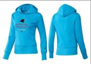 Wholesale Cheap Women's Carolina Panthers Authentic Logo Pullover Hoodie Blue