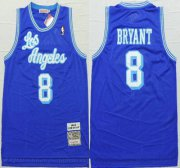 Wholesale Cheap Los Angeles Lakers #8 Kobe Bryant 1996-97 Blue Hardwood Classics Soul Swingman Throwback Jersey