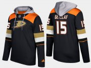 Wholesale Cheap Ducks #15 Ryan Getzlaf Black Name And Number Hoodie