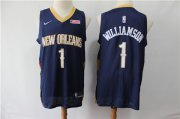 Wholesale Cheap Pelicans 1 Zion Williamson Navy Nike Swingman Jersey