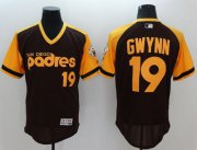 Wholesale Padres #19 Tony Gwynn Brown/Gold Flexbase Authentic Collection Cooperstown Stitched Baseball Jersey