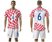 Wholesale Cheap Croatia #6 Lovren Home Soccer Country Jersey