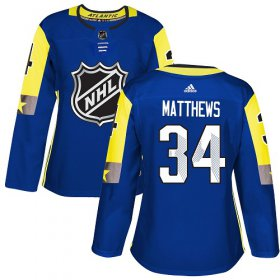 Wholesale Cheap Adidas Maple Leafs #34 Auston Matthews Royal 2018 All-Star Atlantic Division Authentic Women\'s Stitched NHL Jersey