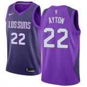 Wholesale Cheap Women's Nike Phoenix Suns #22 Deandre Ayton Purple NBA Swingman City Edition Jersey
