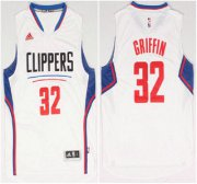 Wholesale Cheap Los Angeles Clippers #32 Blake Griffin Revolution 30 Swingman 2015 New White Jersey