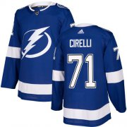 Cheap Adidas Lightning #71 Anthony Cirelli Blue Home Authentic Stitched NHL Jersey