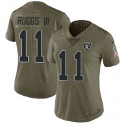 Wholesale Cheap Nike Raiders #11 Henry Ruggs III Olive Women's Stitched NFL Limited 2017 Salute To Service Jersey