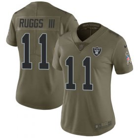 Wholesale Cheap Nike Raiders #11 Henry Ruggs III Olive Women\'s Stitched NFL Limited 2017 Salute To Service Jersey