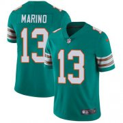 Wholesale Cheap Nike Dolphins #13 Dan Marino Aqua Green Alternate Youth Stitched NFL Vapor Untouchable Limited Jersey