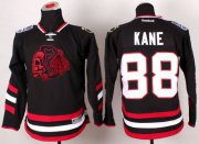 Wholesale Cheap Blackhawks #88 Patrick Kane Black(Red Skull) 2014 Stadium Series Stitched Youth NHL Jersey