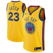 Wholesale Cheap Nike Golden State Warriors #23 Draymond Green Gold NBA Swingman City Edition Jersey
