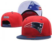 Wholesale Cheap NFL New England Patriots Team Logo Red Snapback Adjustable Hat LT03