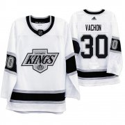 Wholesale Cheap Los Angeles Kings #30 Rogie Vachon Men's Adidas 2019-20 Heritage White Throwback 90s NHL Jersey