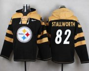 Wholesale Cheap Nike Steelers #82 John Stallworth Black Player Pullover NFL Hoodie
