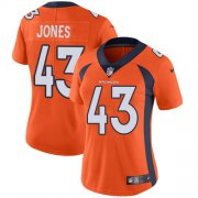 Wholesale Cheap Nike Broncos #43 Joe Jones Orange Team Color Women's Stitched NFL Vapor Untouchable Limited Jersey