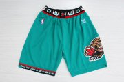 Wholesale Cheap Men's Memphis Grizzlies Teal Hardwood Classics Shorts