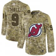 Wholesale Cheap Adidas Devils #9 Taylor Hall White Road Authentic Stitched NHL Jersey