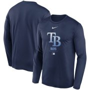 Wholesale Cheap Men's Tampa Bay Rays Nike Navy Authentic Collection Legend Performance Long Sleeve T-Shirt