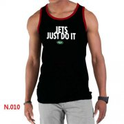 Wholesale Cheap Men's Nike NFL New York Jets Sideline Legend Authentic Logo Tank Top Black_1