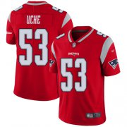 Wholesale Cheap Nike Patriots #53 Josh Uche Red Men's Stitched NFL Limited Inverted Legend Jersey