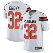 Wholesale Cheap Nike Browns #32 Jim Brown White Men's Stitched NFL Vapor Untouchable Limited Jersey