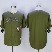 Wholesale Cheap Blue Jays Blank Green Camo New Cool Base Stitched MLB Jersey