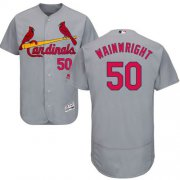 Wholesale Cheap Cardinals #50 Adam Wainwright Grey Flexbase Authentic Collection Stitched MLB Jersey