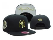 Wholesale Cheap MLB New York Yankees 42 Mariano Rivera snapback caps SF_50559