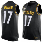Wholesale Cheap Nike Steelers #17 Joe Gilliam Black Team Color Men's Stitched NFL Limited Tank Top Jersey