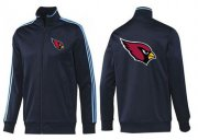 Wholesale Cheap NFL Arizona Cardinals Team Logo Jacket Dark Blue