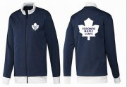 Wholesale Cheap NHL Toronto Maple Leafs Zip Jackets Dark Blue