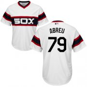 Wholesale Cheap White Sox #79 Jose Abreu White Alternate Home Cool Base Stitched Youth MLB Jersey