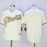 Wholesale Cheap Giants Blank Cream(Gold No.) New Cool Base Stitched MLB Jersey