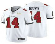 Wholesale Cheap Men's Tampa Bay Buccaneers #14 Chris Godwin White 2021 Super Bowl LV Vapor Untouchable Stitched Nike Limited NFL Jersey