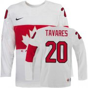 Wholesale Cheap Olympic 2014 CA. #20 John Tavares White Stitched NHL Jersey
