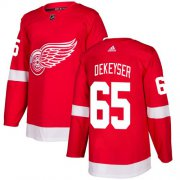 Wholesale Cheap Adidas Red Wings #65 Danny DeKeyser Red Home Authentic Stitched NHL Jersey