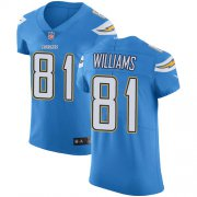 Wholesale Cheap Nike Chargers #81 Mike Williams Electric Blue Alternate Men's Stitched NFL Vapor Untouchable Elite Jersey