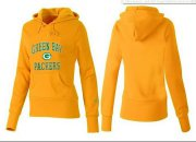 Wholesale Cheap Women's Green Bay Packers Heart & Soul Pullover Hoodie Yellow
