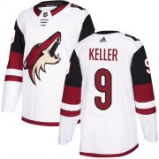 Wholesale Cheap Adidas Coyotes #9 Clayton Keller White Road Authentic Stitched Youth NHL Jersey