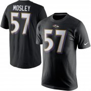 Wholesale Cheap Baltimore Ravens #57 C.J. Mosley Nike Player Pride Name & Number T-Shirt Black