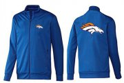 Wholesale Cheap NFL Denver Broncos Team Logo Jacket Blue_2