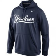 Wholesale Cheap New York Yankees Nike Men's KO Wordmark Perfomance Navy MLB Hoodie