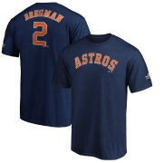 Wholesale Cheap Houston Astros #2 Alex Bregman Majestic 2019 World Series Bound Name & Number T-Shirt Navy