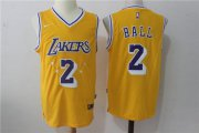 Wholesale Cheap Nike Los Angeles Lakers #2 Lonzo Ball w Purple Number Stitched NBA Jersey