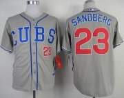 Wholesale Cheap Cubs #23 Ryne Sandberg Grey Alternate Road Cool Base Stitched MLB Jersey