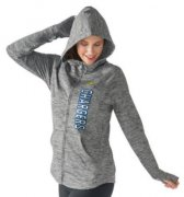 Wholesale Cheap Women's NFL Los Angeles Chargers G-III 4Her by Carl Banks Recovery Full-Zip Hoodie Heathered Gray