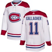 Wholesale Cheap Adidas Canadiens #11 Brendan Gallagher White Road Authentic Stitched NHL Jersey