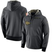Wholesale Cheap Men's Kansas City Chiefs Nike Anthracite Salute to Service Player Performance Hoodie